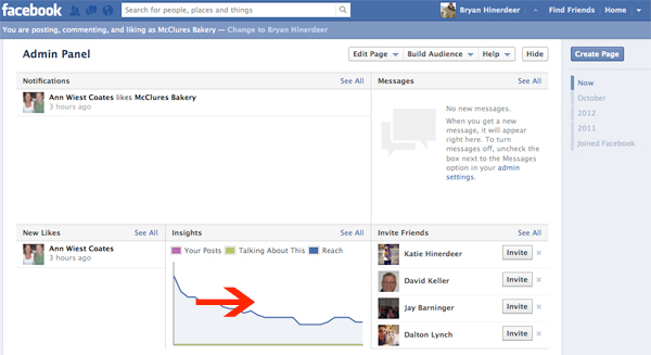 facebook insights window
